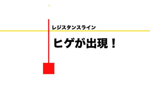 【FX】重要な水平線でヒゲが出た時はチャンス!エントリーポイントや損切りの方法!