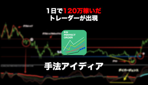 【FX】 「 RSIパーフェクトオーダー」1日100万円稼いだ!成功者を生んだ自作インジケーター!手法アイディアを紹介!