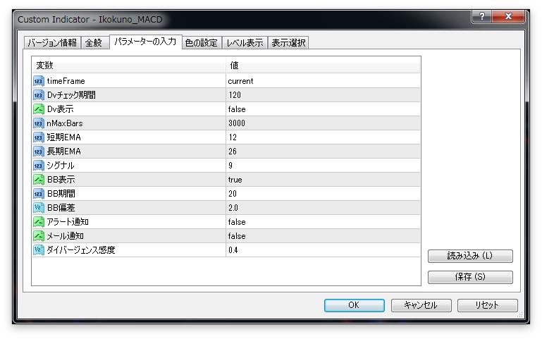 パラメーター設定-fx-macd