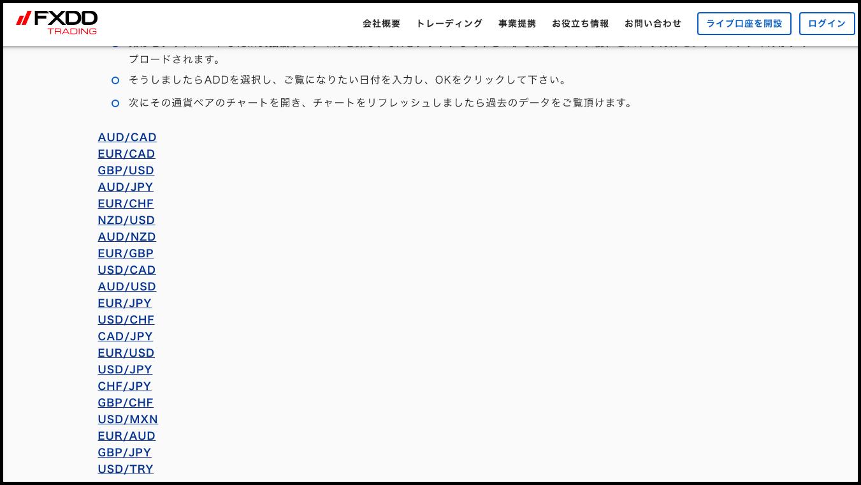 ヒストリカルデーター-mt4ダウンロード方法