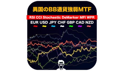 【FX】MT4最強の通貨強弱インジケーター「異国のBB通貨強弱MTF」マルチタイムフレームも出来る!