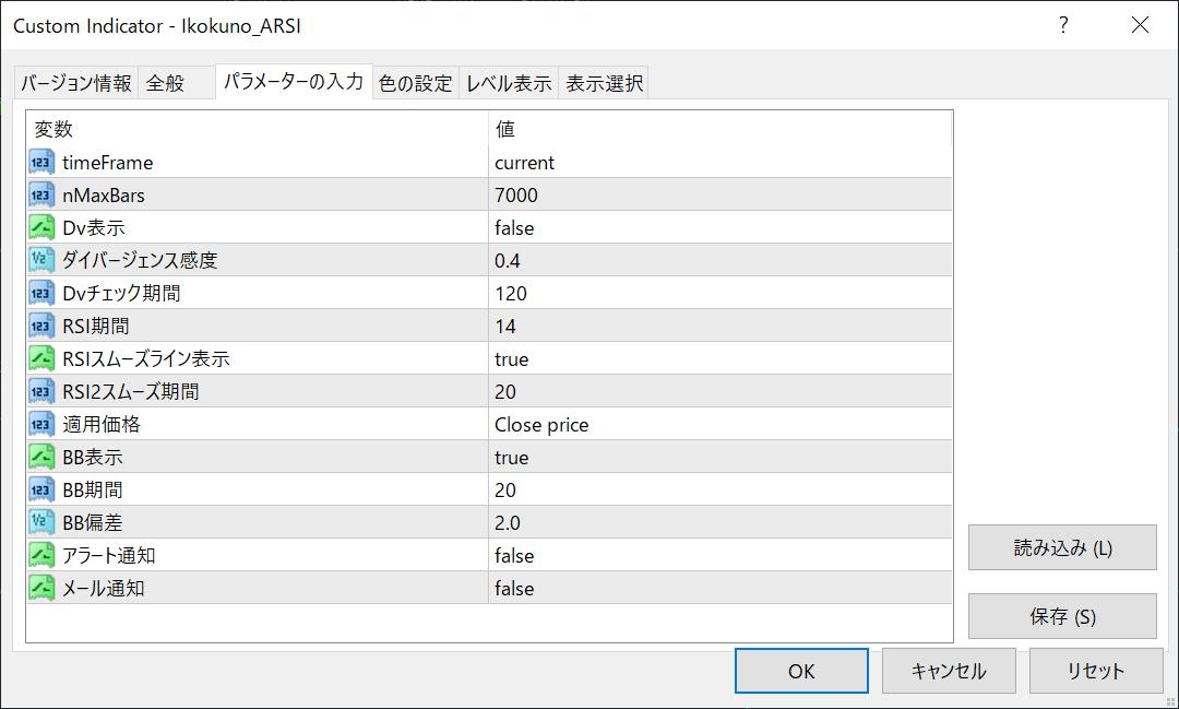 rsi-advance-parameter